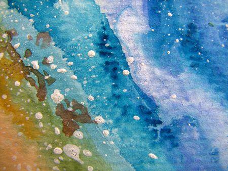 Azules y arena acuarela texturas 2  Foto de archivo - 6721810