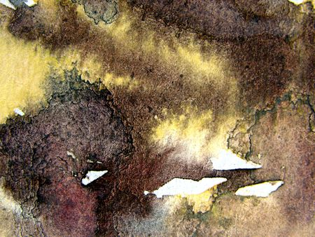 Brown Watercolor Abstract 1 photo