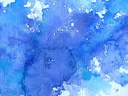 Blue Watercolor on Textured Paper 1 Stock Photo - 8095587