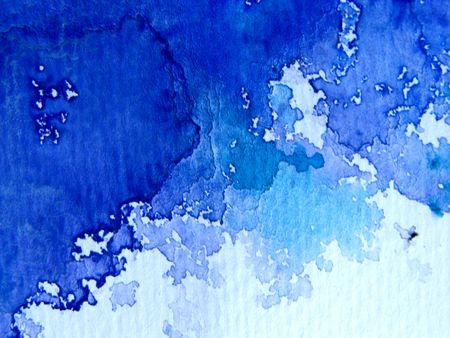 Blue Watercolor on Textured Paper 4 photo
