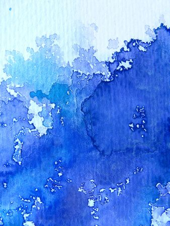 Blue Watercolor on Textured Paper 5 Stock Photo