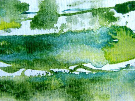 Green Yellow & White Watercolor 1