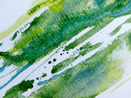 Green Yellow & White Watercolor 6 Stock Photo