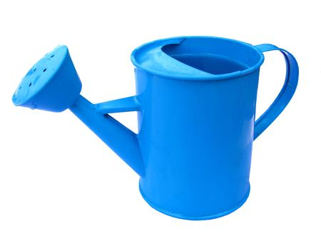 Child's Blue Watering Can 스톡 콘텐츠