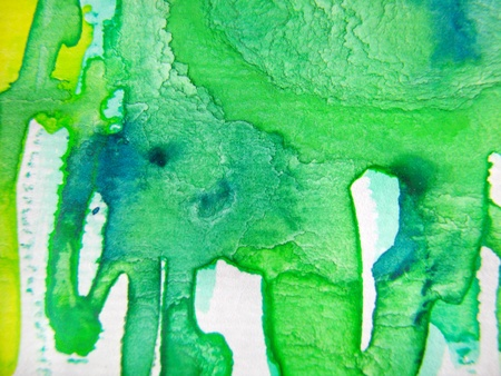 Turquoise Green Watercolor photo