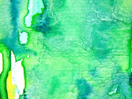 Turquoise Green Watercolor 1 photo