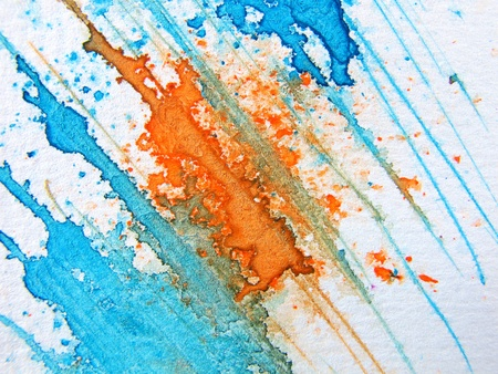 Blue & Orange Watercolor 7