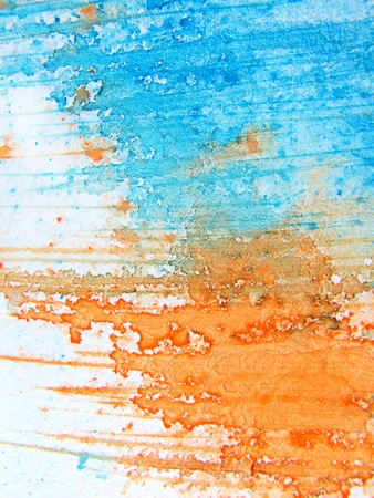Blue & Orange Watercolor 10 photo
