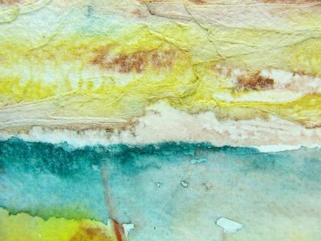 brush modern: Aqua Yellow Watercolor
