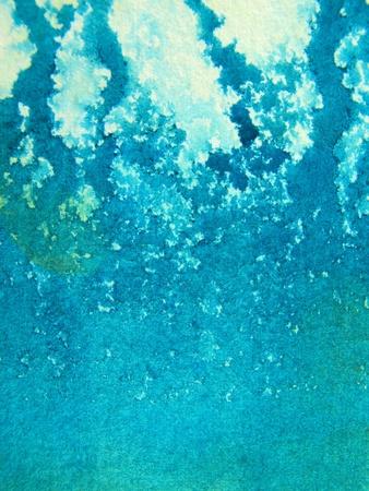Aqua Watercolor 1 photo