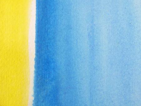 Blue & Yellow Watercolour Background 3 photo