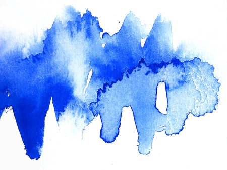 Blue Watercolour Abstract 1