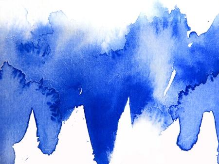 Blue Watercolour Abstarct 2 Stock Photo