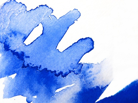 Blue Watercolour Abstract 3