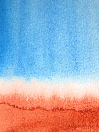 Blue and Burnt Sienna Watercolor 2