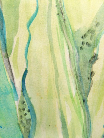 scenic background: Green Vertical Watercolors 1