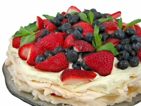 Berry Pavlova 2 Stock Photo