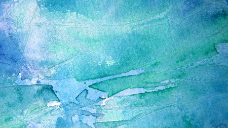Blue and Turquoise Watercolor Background  Stock Photo