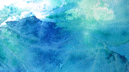 Blue and Turquoise Watercolor Background photo