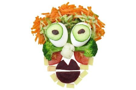 funny food: Funny Food Face Stock Photo