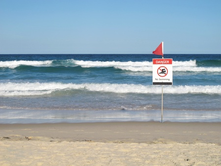 no swimming sign: Danger - No Swimming sign
