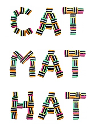 Cat, Mat and Hat words