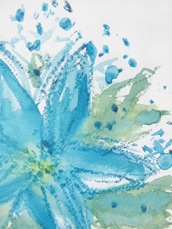 Abstract Watercolor Floral 1