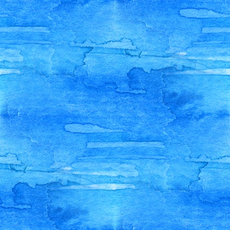 Blue Seamless Watercolor 5 Stock Photo