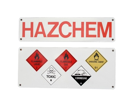 Chemical Hazard Sign Stock Photo - 12337185