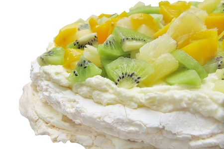 Fruit Dessert Pavlova  photo