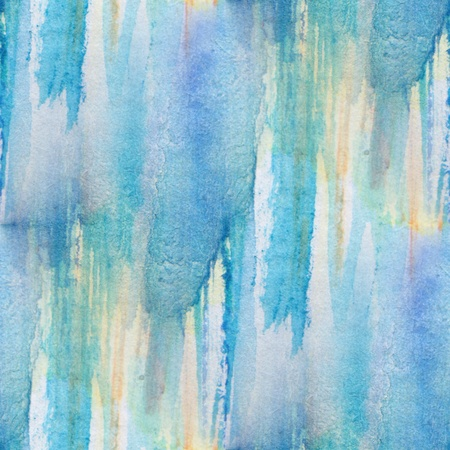 Seamless Blue with Yellow Watercolor