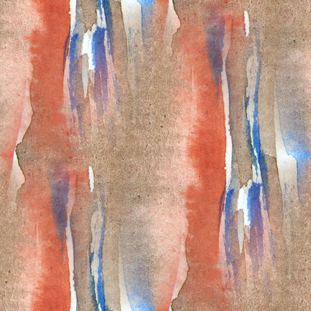 Seamless Burnt Orange with Blue Watercolor photo