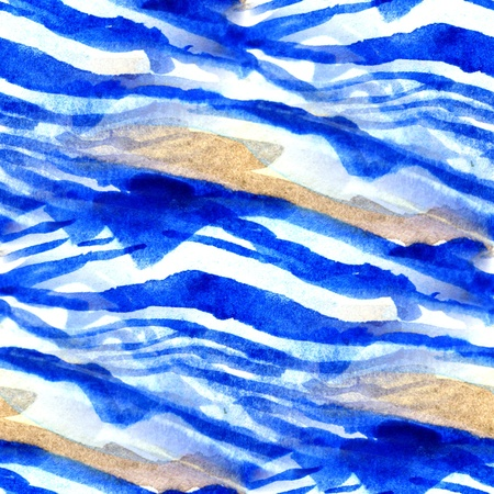 Seamless Blue with Brown Watercolor Abstract Stock Photo - 12745579