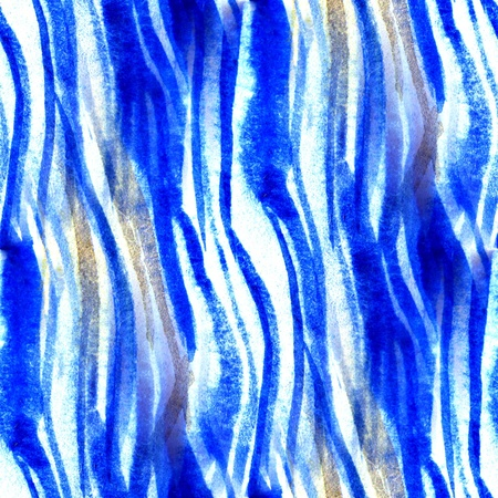 Seamless Blue with Brown Watercolor Abstract  스톡 콘텐츠