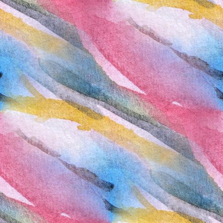 Seamless Pink with Blue Watercolor Abstract