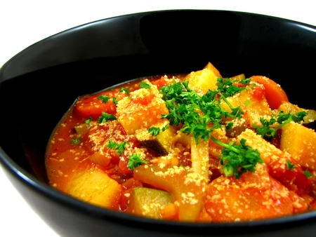 minestrone: Minestrone Soup Isolated