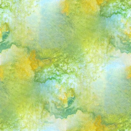 Green with Yellow Seamless Watercolor 1