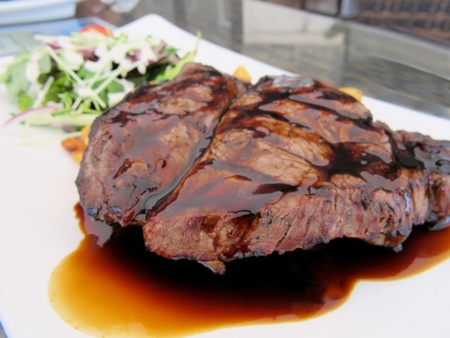 Steak with Red Wine Jus 1 photo