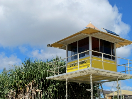 Life Guard Tower SE Queensland Stock Photo - 14958878