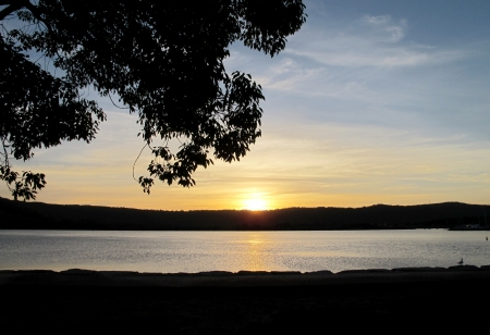 Sunset over the Broadwater Gosford photo