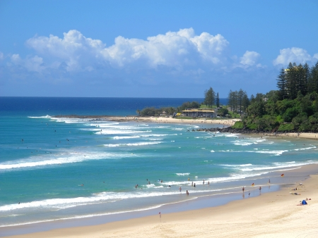 View to Snapper Rocks 스톡 콘텐츠