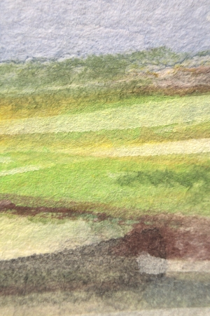 Green Yellow Brown and Blue Watercolor Texture 3
