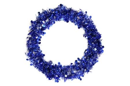 snow wreath: Blue Xmas Wreath