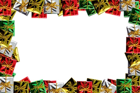 Christmas Package Frame Stock Photo - 16553515
