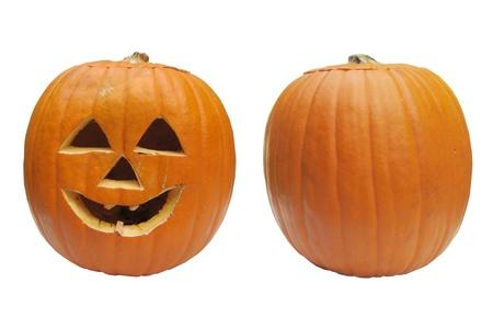 Isolated Halloween Pumpkins