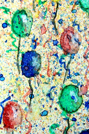 Watercolor Party Balloons  photo