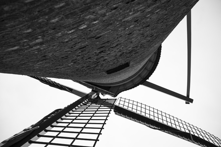 schiedam: windmill - schiedam - netherland Stock Photo