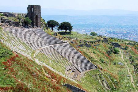 Ruins of 10,000-seat theater in Pergamos Reklamní fotografie