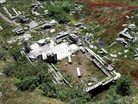 idolatry: Ruins of the temple of Dionysus in Pergamos