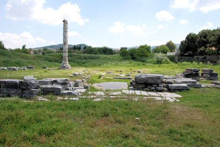 Ruins of the temple of Artemis or Diana in Ephesus